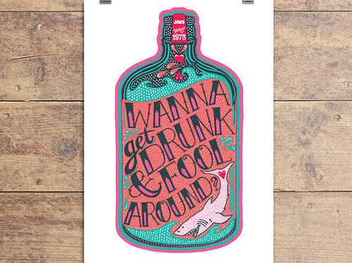 Jaws Film - Wanna Get Drunk and Fool Around? - Greeting Card