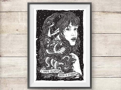 Fleetwood Mac Storms Lyric Print