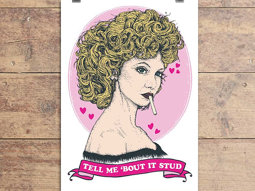 Sandy - Grease Movie - Tell Me 'Bout It Stud - Greeting Card