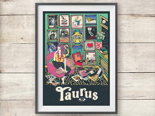 Taurus Print - Astrology - Zodiac Print