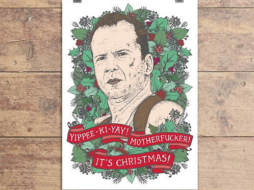 Die Hard Swearing Christmas Card