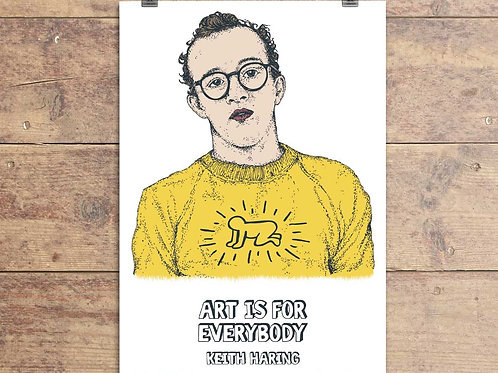 Keith Haring Greeting Card - Keith Haring Quote