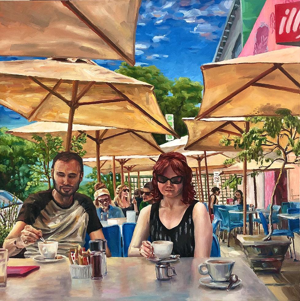 Charles foley art cafe scene patisserie.