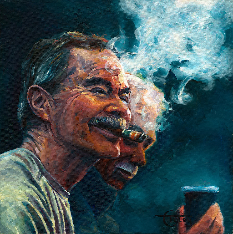 famous south african artist Smoking char
