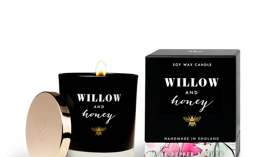Willow & Honey Pink Pepper & Musk Candle