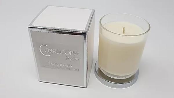 Tranquility Luxury Scented Candle By Cornucopia Emporium