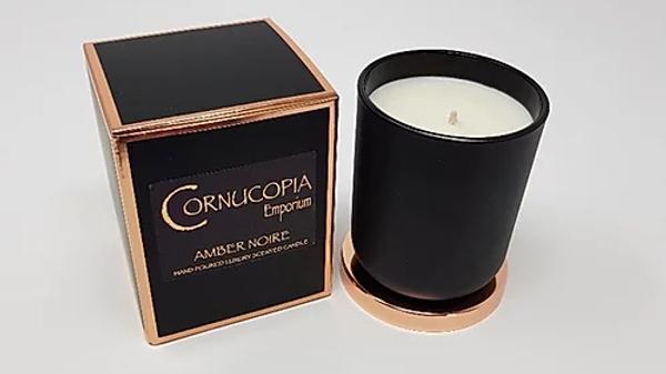 Amber Noire Luxury Scented Candle By Cornucopia Emporium