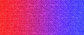 Lighting Effect frame pink and blue neon on brick wall for background party or your text..