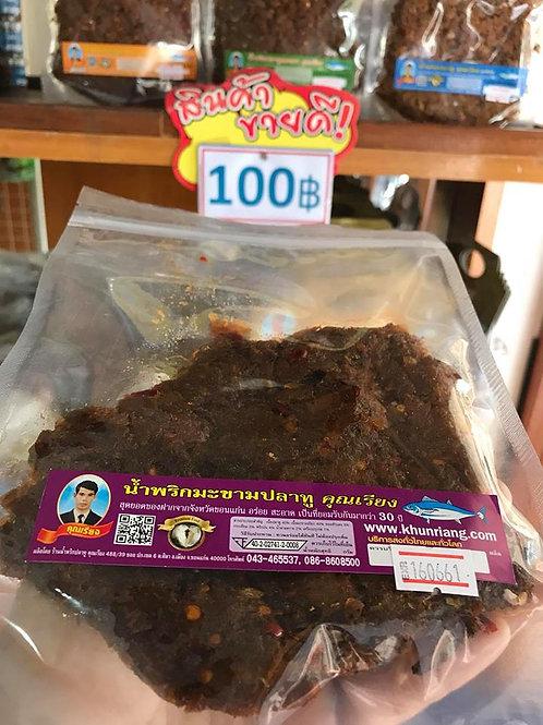 น้ำพริกมะขามปลาทู ถุงซิปล็อคซีล 150 กรัม