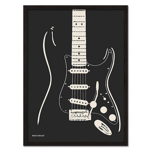 Stratocaster Guitar Plakat (30x40)