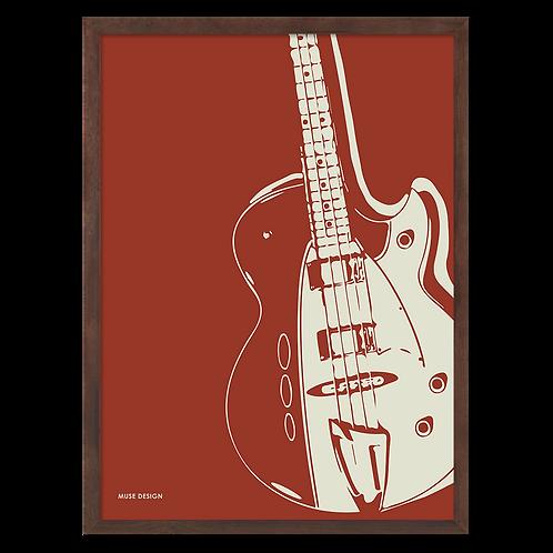Basguitar Plakat (30x40)
