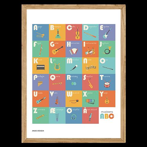Musikkens ABC Plakat (30x40)
