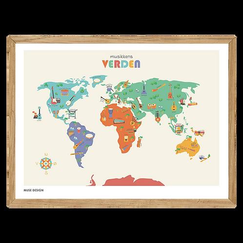 Musikkens Verden Plakat (30x40)