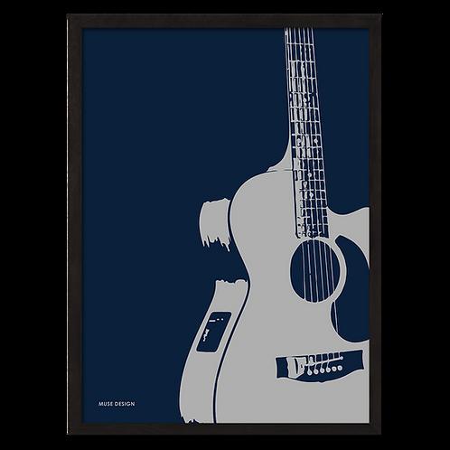 Akustisk Guitar Plakat (30x40)