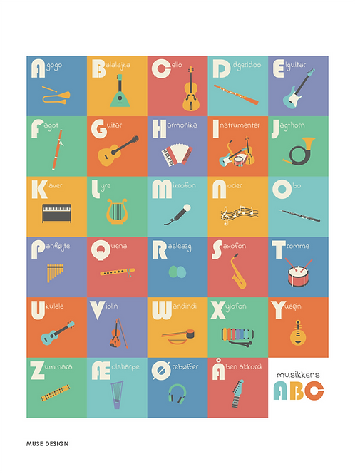 Musikkens ABC (30x40)