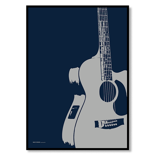 Akustisk Guitar (50x70)