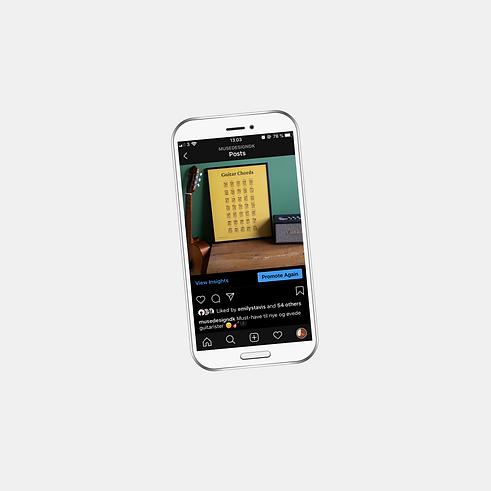 kampagner på sociale medier, instagram på smartphone