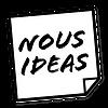 Nous Ideas logo i sort og hvid
