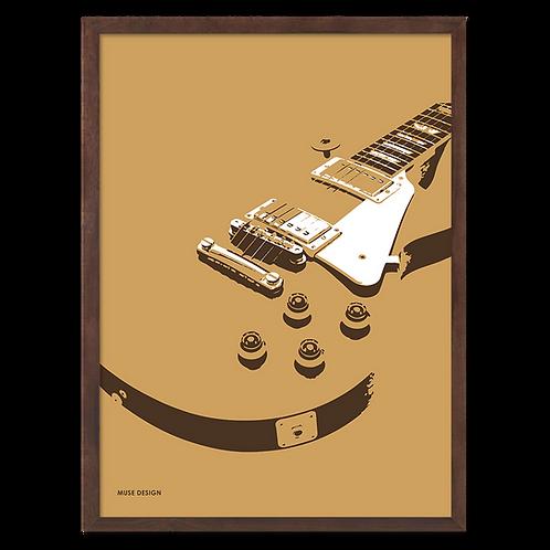 Goldtop Guitar Plakat (30x40)