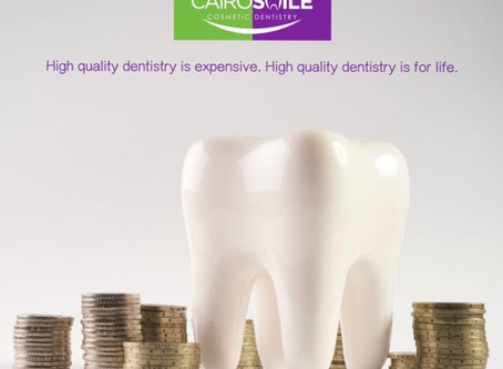 High quality dentistry is expensive. High quality dentistry is for life.