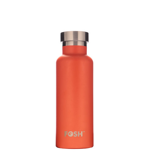 FOSH Triple Insulated Drinks Bottle 550 ml Orange