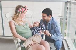 צילומי הריון ומשפחה בבית