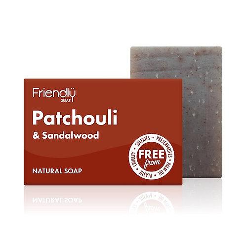 FRIENDLY SOAP Patchouli & Sandalwood 95g