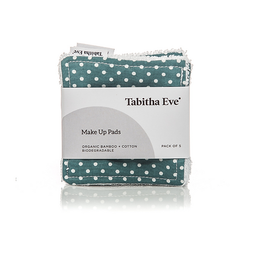 ORGANIC COTTON & BAMBOO MAKEUP SQUARES Tabitha Eve Pack of 3