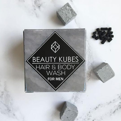 BEAUTY KUBES Plastic-Free Shampoo and Body Wash for Men