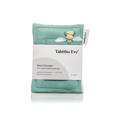 ORGANIC TOUGH NONE SPONGES 2 PACK Bumblebuzz by Tabitha Eve