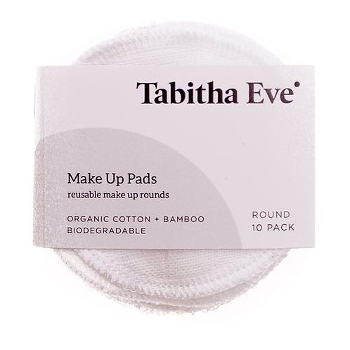ORGANIC COTTON & BAMBOO MAKEUP ROUNDS Tabitha Eve 5 Pack