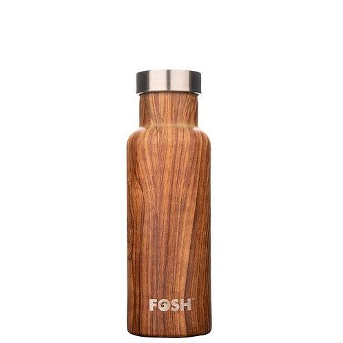 FOSH Triple Insulated Drinks Bottle 550 ml Wood
