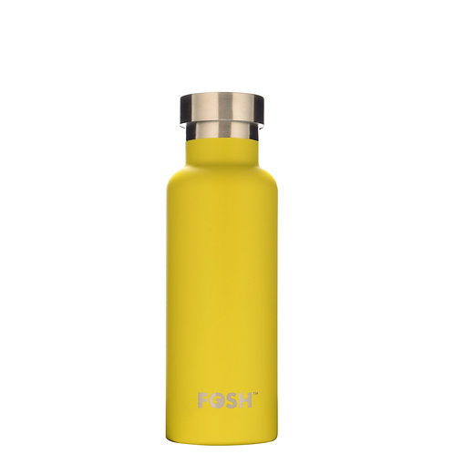 FOSH Triple Insulated Drinks Bottle 550 ml Yellow