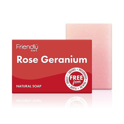 FRIENDLY SOAP Rose Geranium 95g