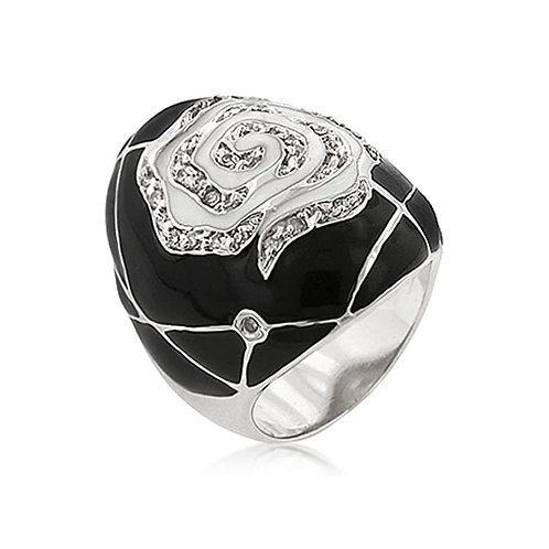 ROSE FLOWER DOME RING