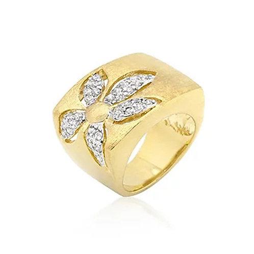 14KT GOLD BONDED FLOWER RING