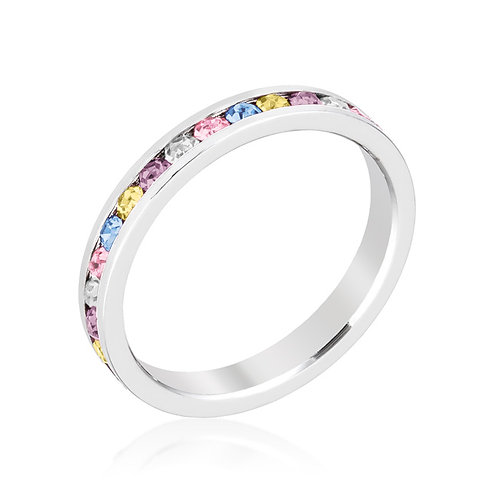 STYLISH STACKABLES MIXED CRYSTAL RING