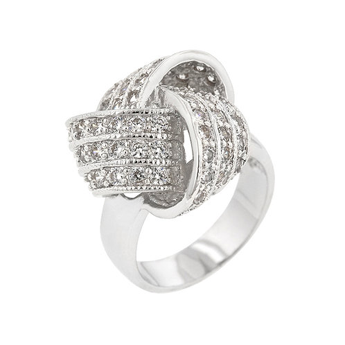 KNOTTED FASHION RING