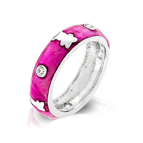 Jeweled Pink Teddy Bear Ring