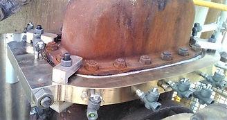 Bespoke flange repair. Enclosure repair. Custom engineering. Bonnet flange. Flange leak sealing. Oval flange repair. Live leak sealing.