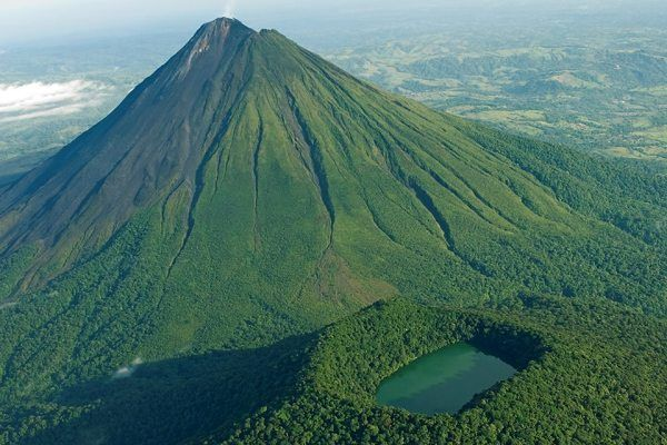 View From the Air of Arenal Volcano