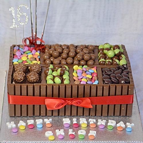 Mega Chocolate Birthday Cake Box