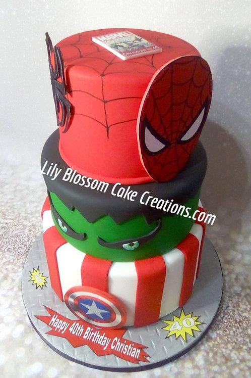 Superhero Cake / Lily Blossom Cake Creations / Liverpool / #superhero #liverpool #superherocakesliverpool