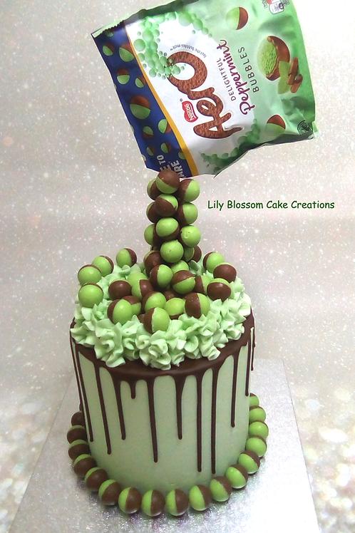 Aero Bubbles Anti-Gravity Drip Cake