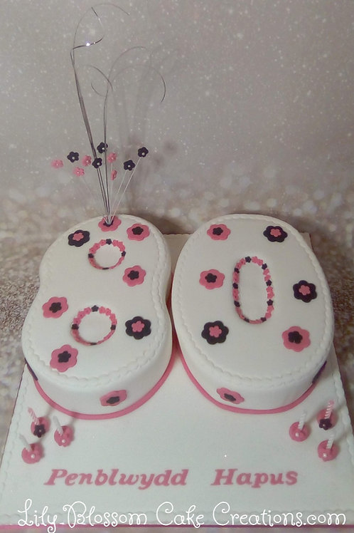 80th Number Cake / Lily Blossom Cake Creations / Liverpool