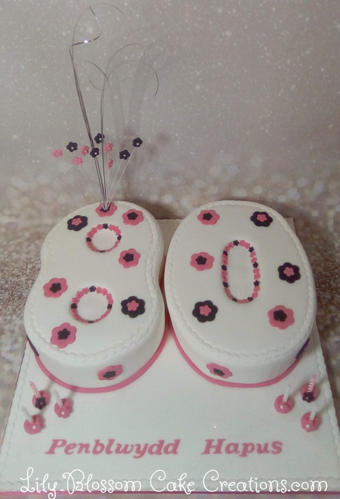 80th Number Cake Lily Blossom Creations Liverpool