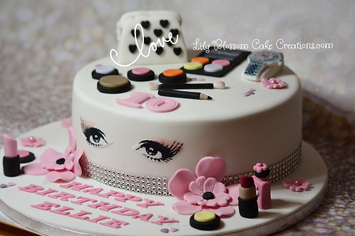 Make Up Birthday Cake Liverpool Lily Blossom Cake Creations