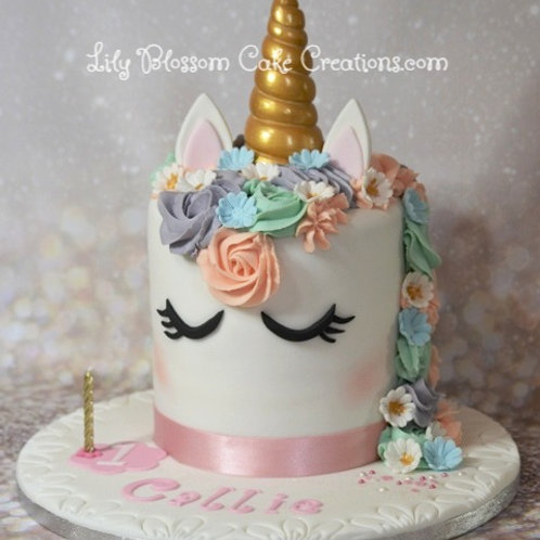 Unicorn Birthday Cake / Lily Blossom Cake Creations / Liverpool