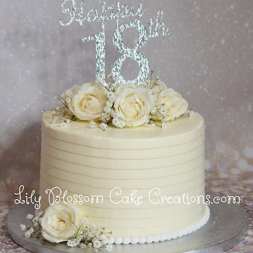 18th Birthday Cake / Lily Blossom Cake Creations / Liverpool