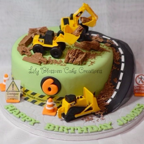 Construction Vehicle Birthday Cake